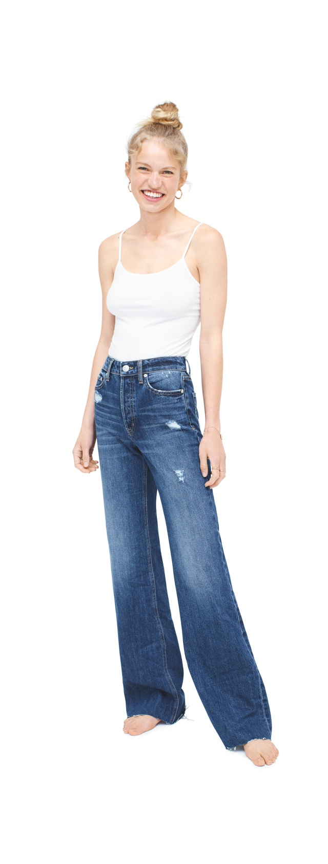 Girls Wide Leg Jeans