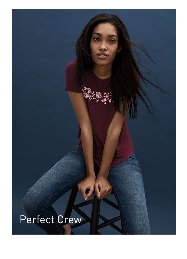 Girls Perfect Crew Tee
