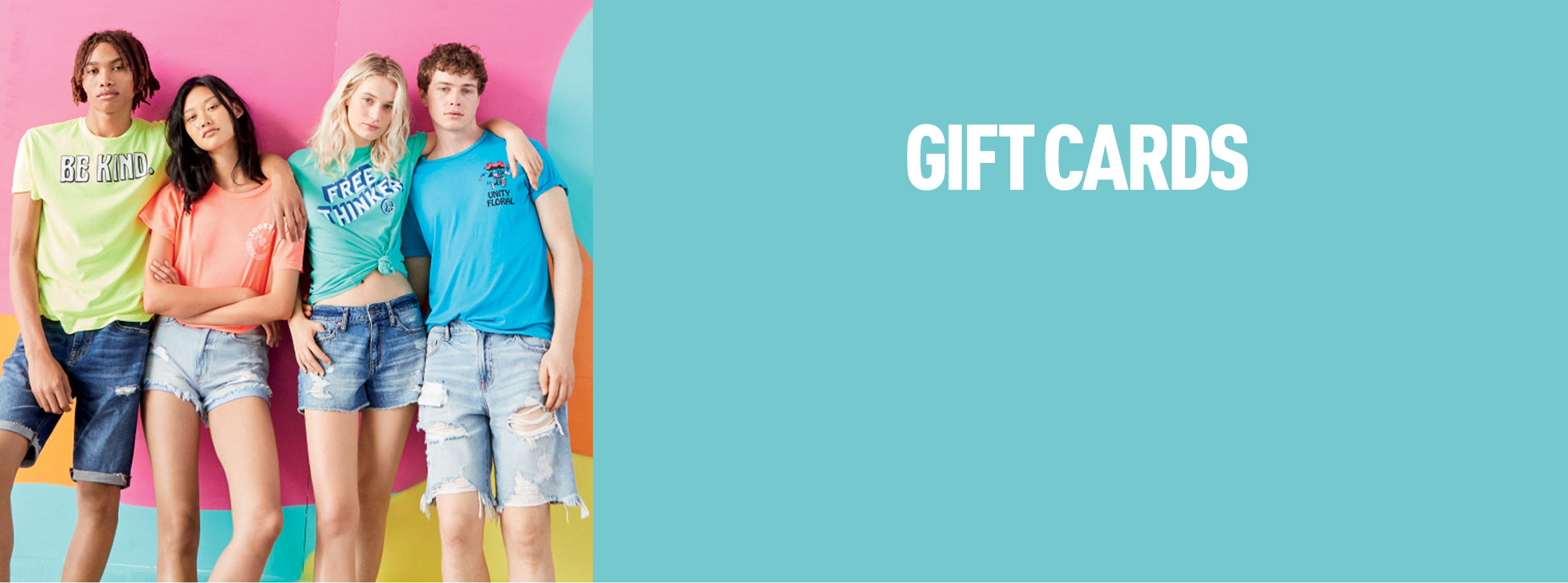 Aeropostale gift-card banner