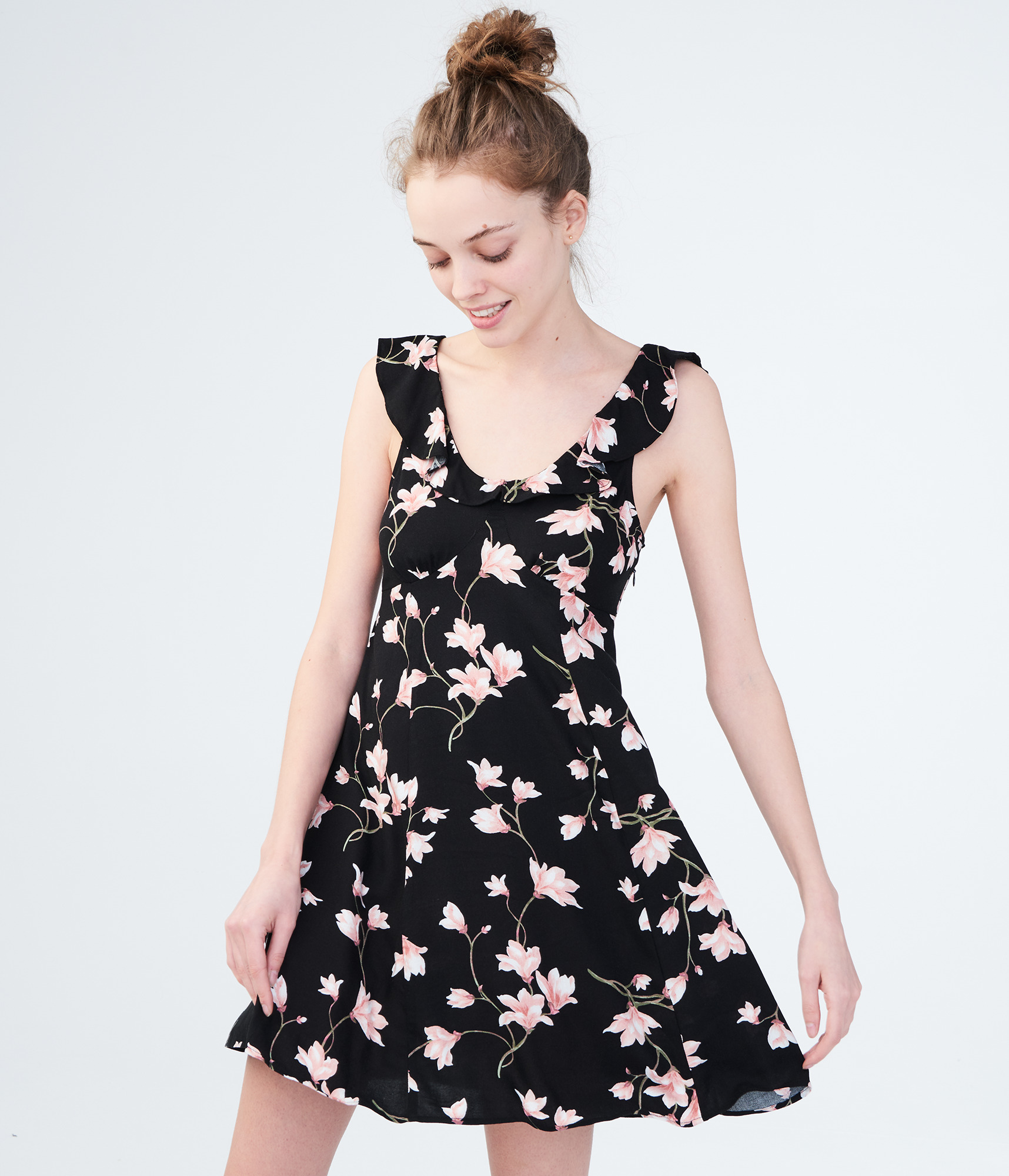 aeropostale-womens-floral-scoop-neck-fit-amp-flare-dress thumbnail 6