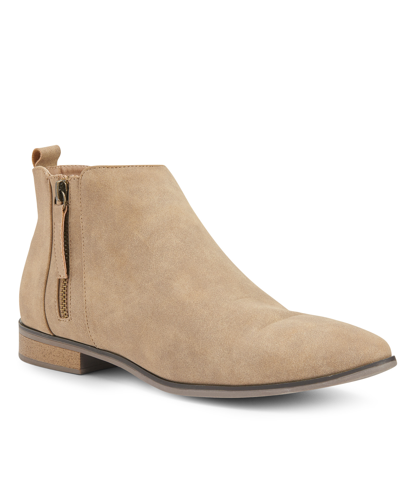 14ce3a9c11eb5 Faux Suede Ankle Booties | Aeropostale