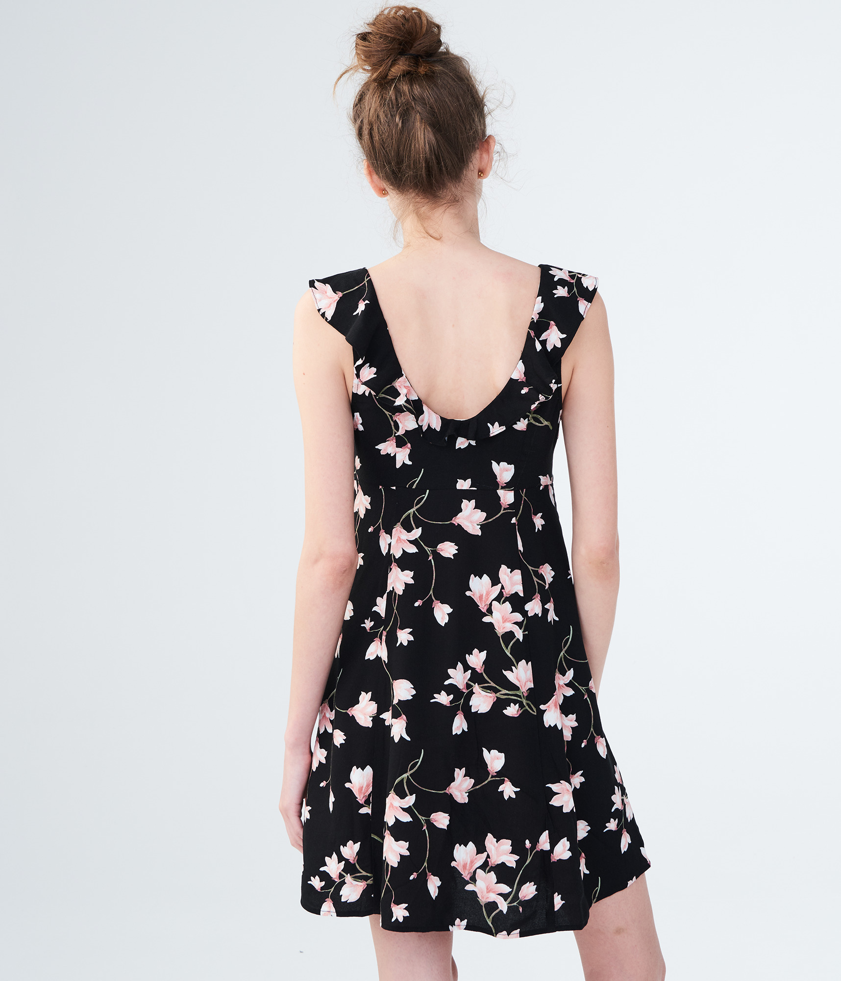 aeropostale-womens-floral-scoop-neck-fit-amp-flare-dress thumbnail 8