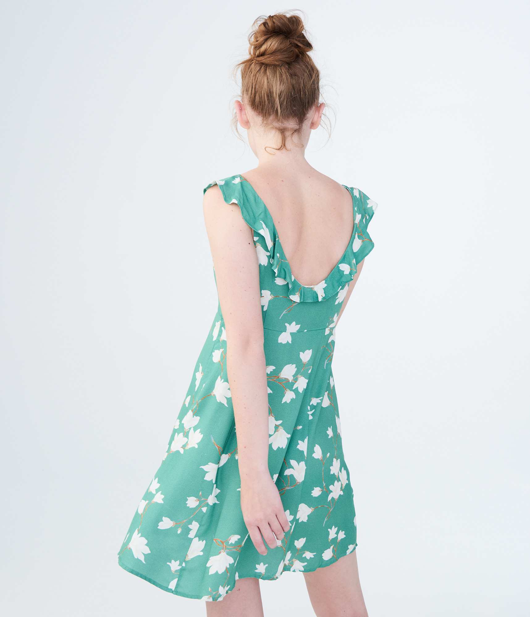aeropostale-womens-floral-scoop-neck-fit-amp-flare-dress thumbnail 12