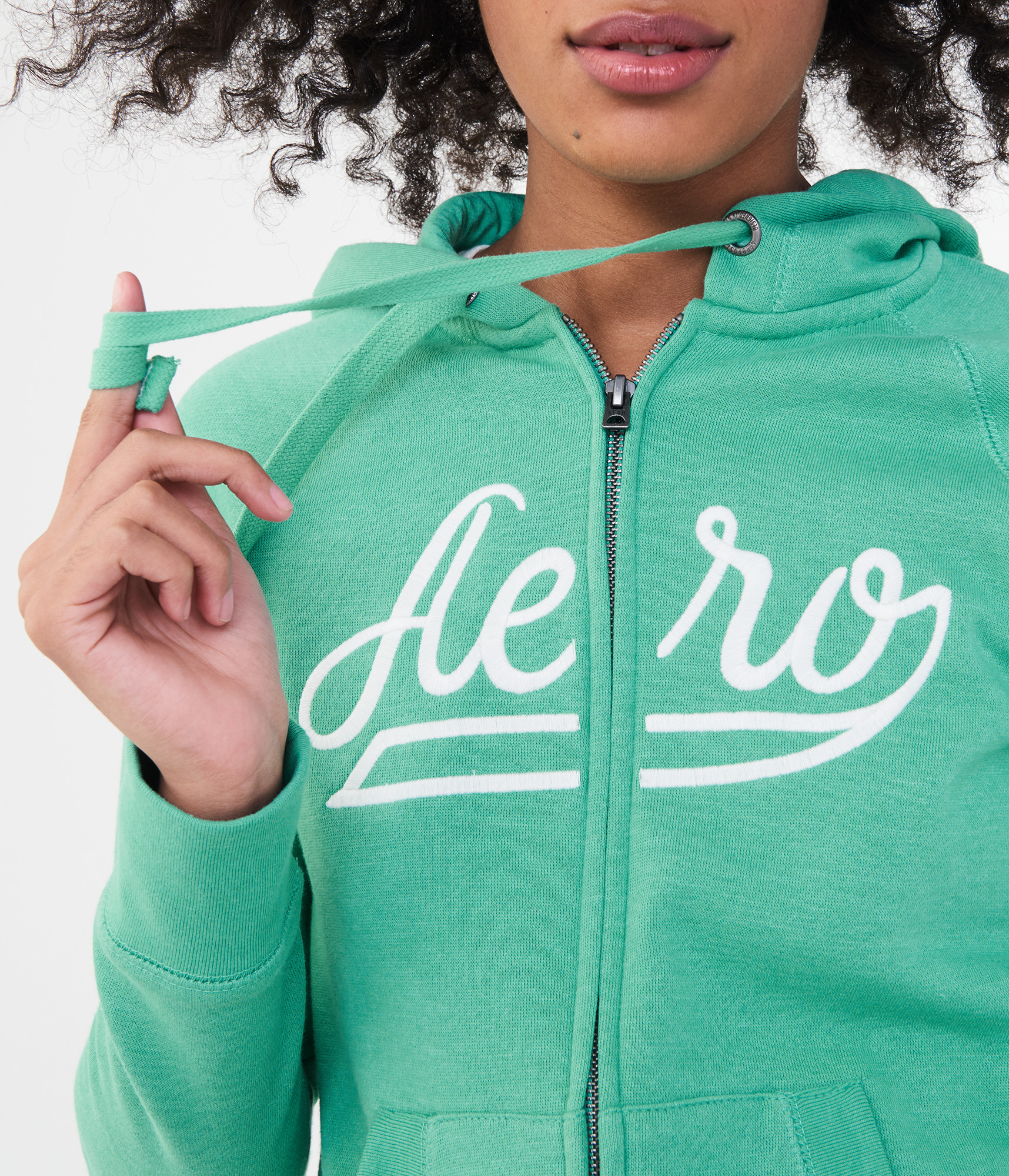 a9a935673 Details about aeropostale womens aero logo full-zip hoodie