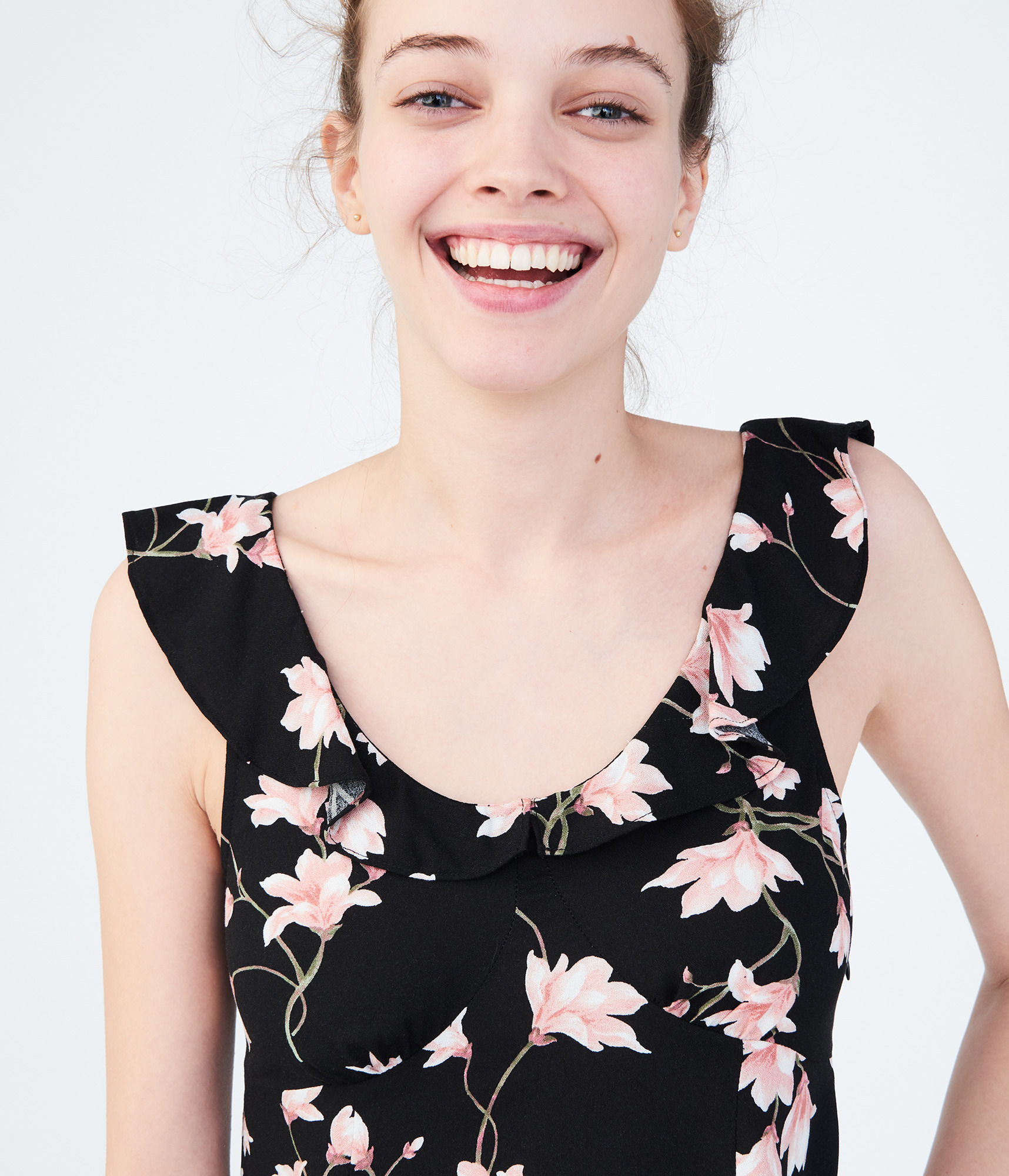 aeropostale-womens-floral-scoop-neck-fit-amp-flare-dress thumbnail 7